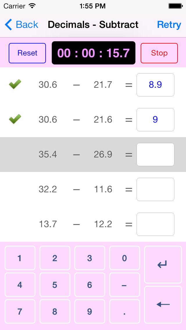 Maths, Age 11-14 App - 3