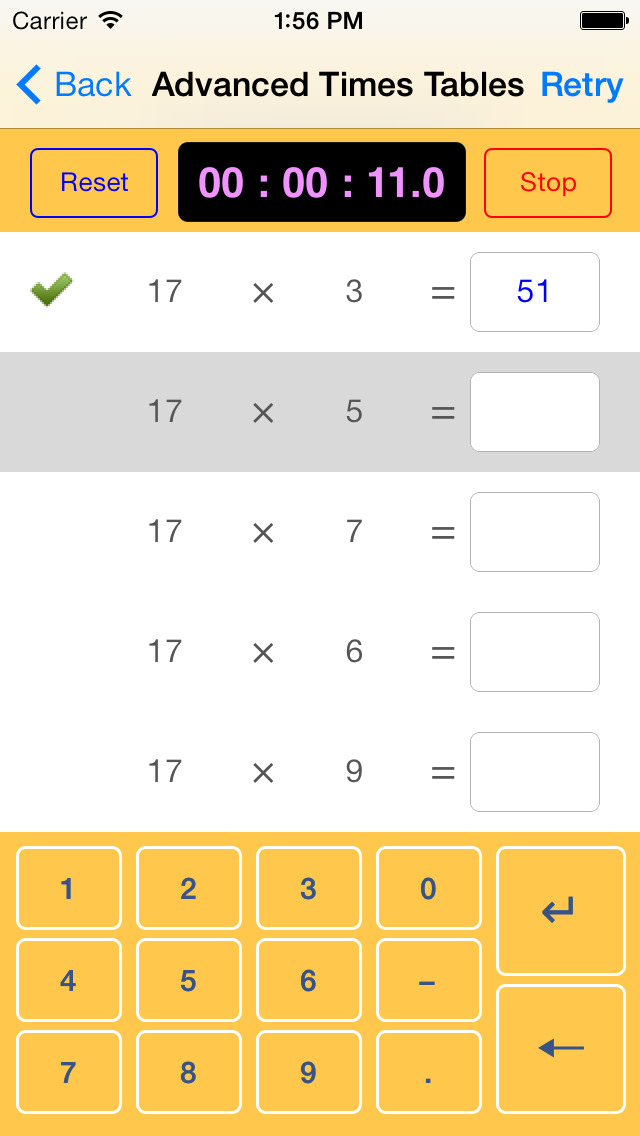Maths, Age 11-14 App - 5