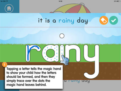 Writing and Colouring Activity Book of Weather Words – a Montessori letter shape tracing activity app-2