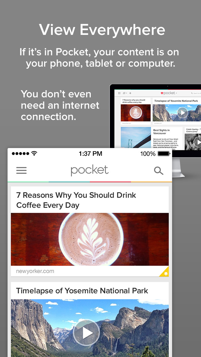 Pocket: Save Articles and Videos to View Later