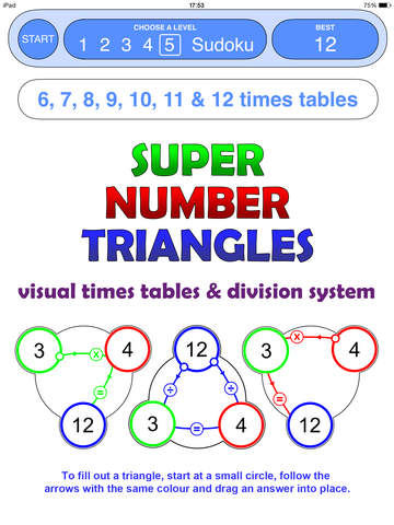 Super Number Triangles App - 1