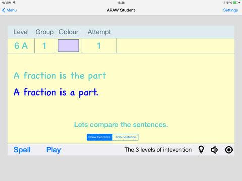 AcceleRead AcceleWrite Student App - 3