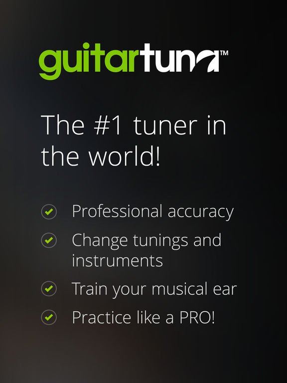 Guitar Tuna – The Ultimate Free Tuner for Guitar, Bass and Ukulele with Chord tab game and Metronome-1