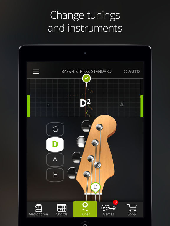 Guitartuna Guitar Bass Tuner Review Educational App Store