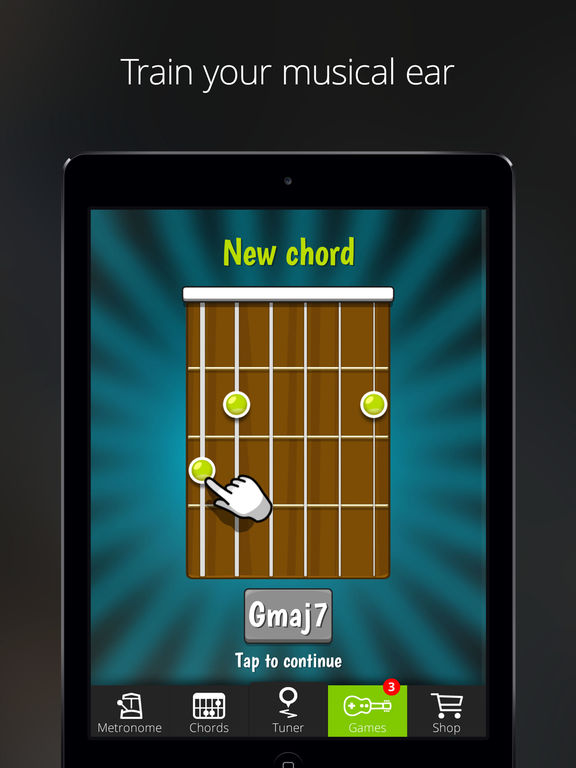 Guitar Tuna – The Ultimate Free Tuner for Guitar, Bass and Ukulele with Chord tab game and Metronome-4