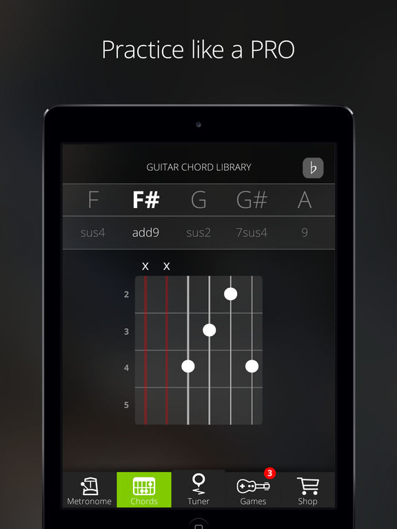 Guitar Tuna – The Ultimate Free Tuner for Guitar, Bass and Ukulele with Chord tab game and Metronome-5