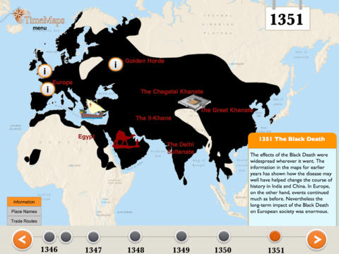 The Black Death History Map-1