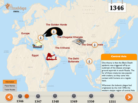 The Black Death History Map-3