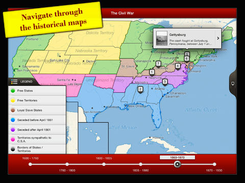 TIMEMAPS U.S. History - Historical Atlas App - 2