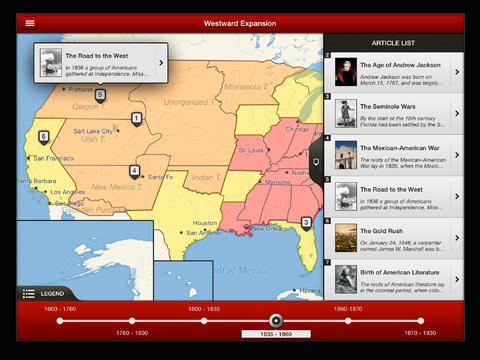 TIMEMAPS U.S. History - Historical Atlas App - 5