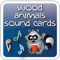 Wood Animals Sound Cards