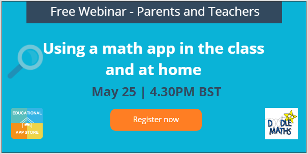 Using a math app in the class and at home
